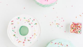 Donut Shaped Mini Ice Cream Cakes Recipe