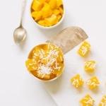 Mango jello bites