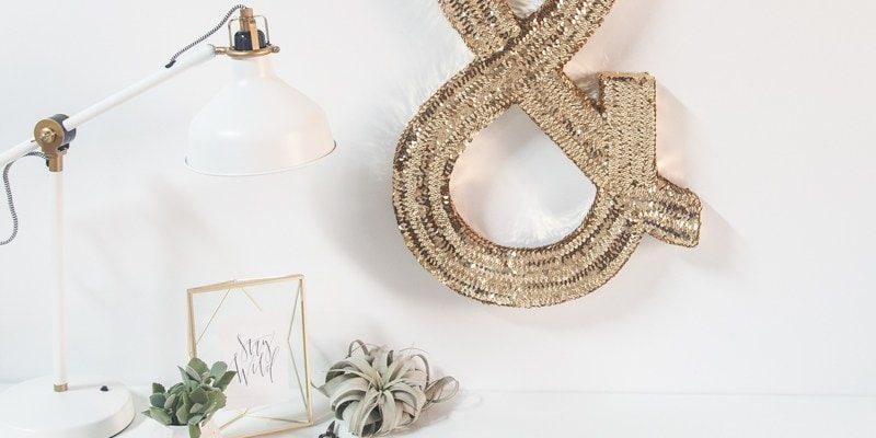 DIY Jumbo Sequin Monogram - Sugar and Cloth