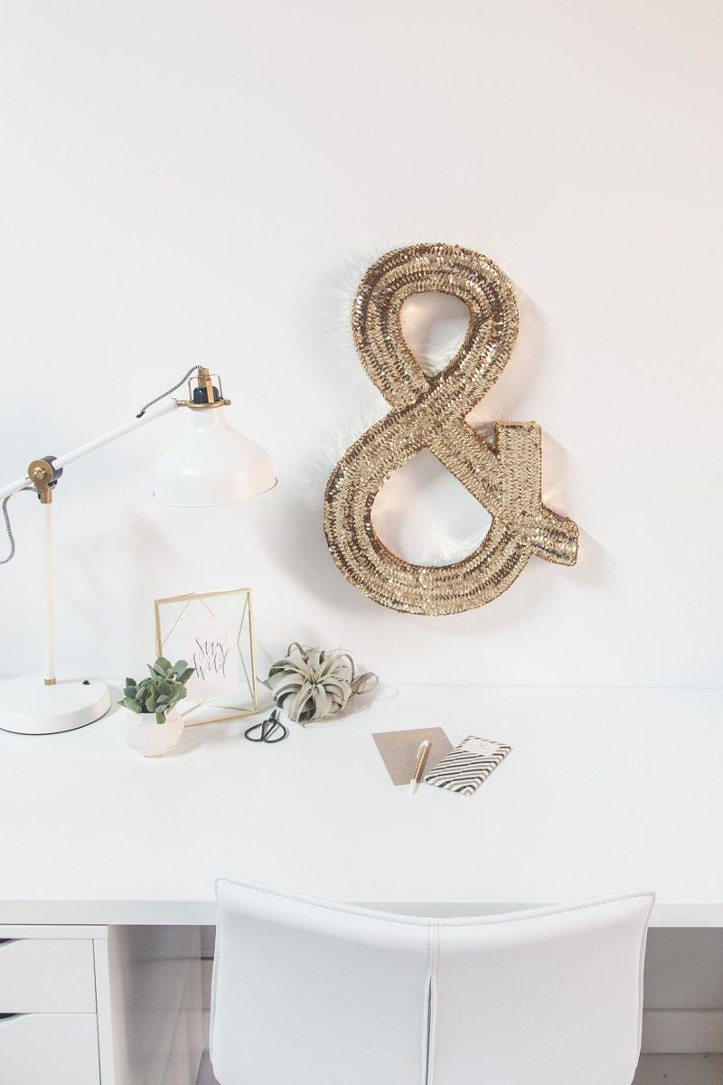 DIY Jumbo Sequin Monogram - Sugar and Cloth