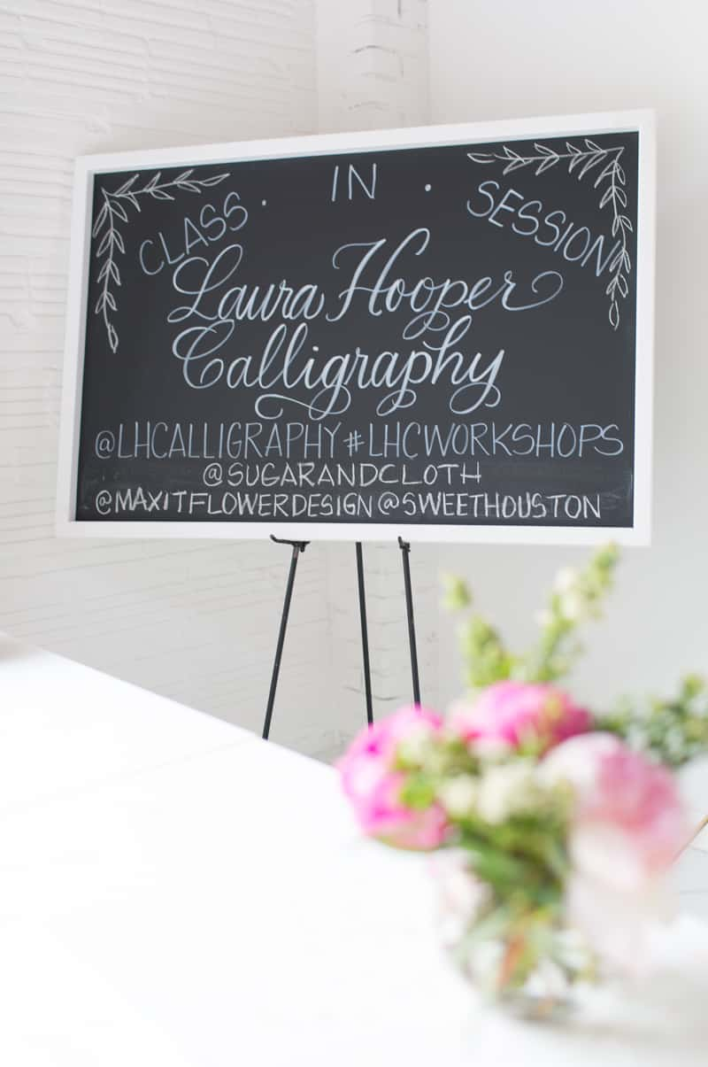Sugar & Cloth studio workshop with Laura Hooper Calligraphy | sugarandcloth.com