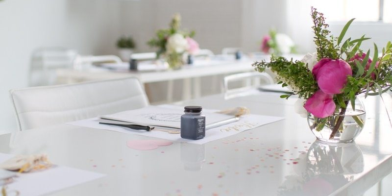 Our Studio Workshop with Laura Hooper Calligraphy - Sugar and Cloth