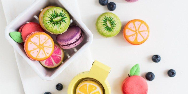 DIY fruit macarons | sugarandcloth.com