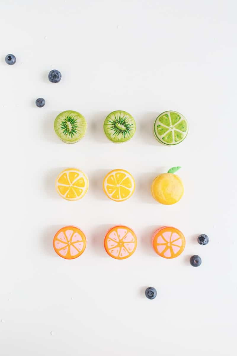 DIY fruit macarons | sugarandcloth.com