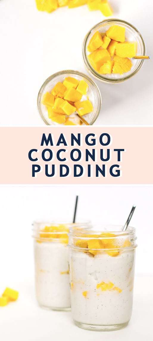 photo of how to make mango coconut pudding  by top Houston lifestyle blogger Ashley Rose of Sugar & Cloth
