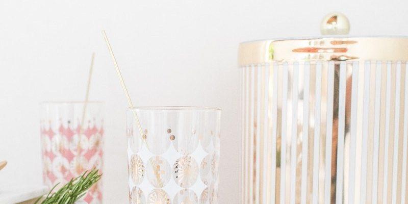 DIY Reusable gold drink stirrers - Sugar & Cloth
