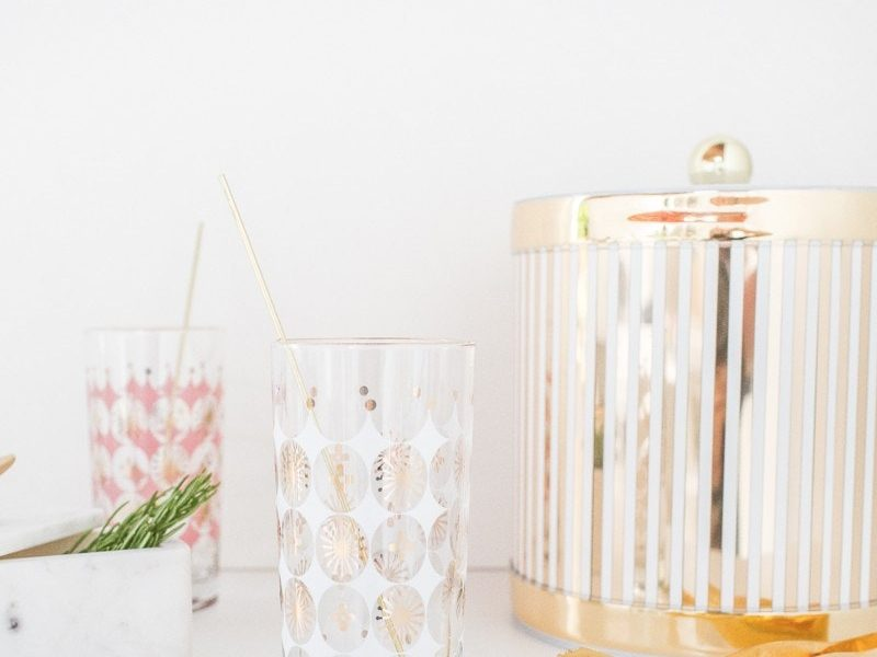 DIY Reusable gold drink stirrers - Sugar & Cloth