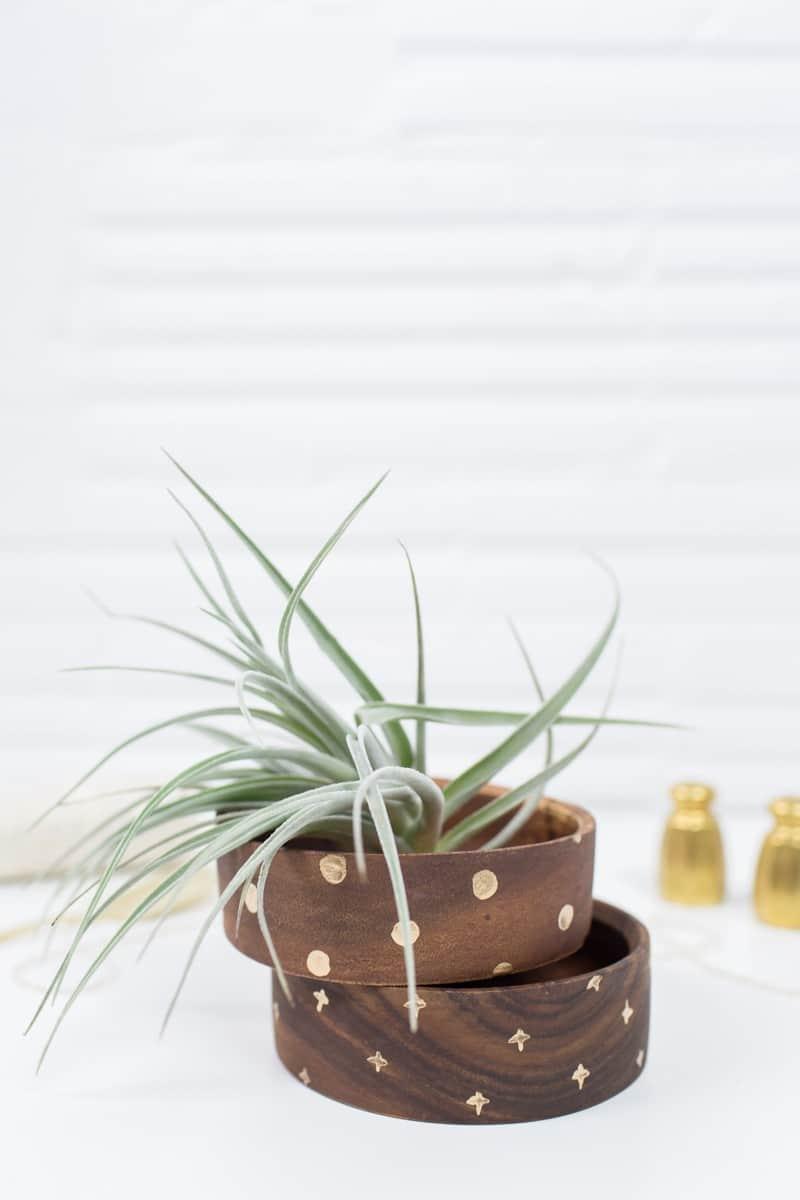 DIY gilded bowl gift set | sugarandcloth.com