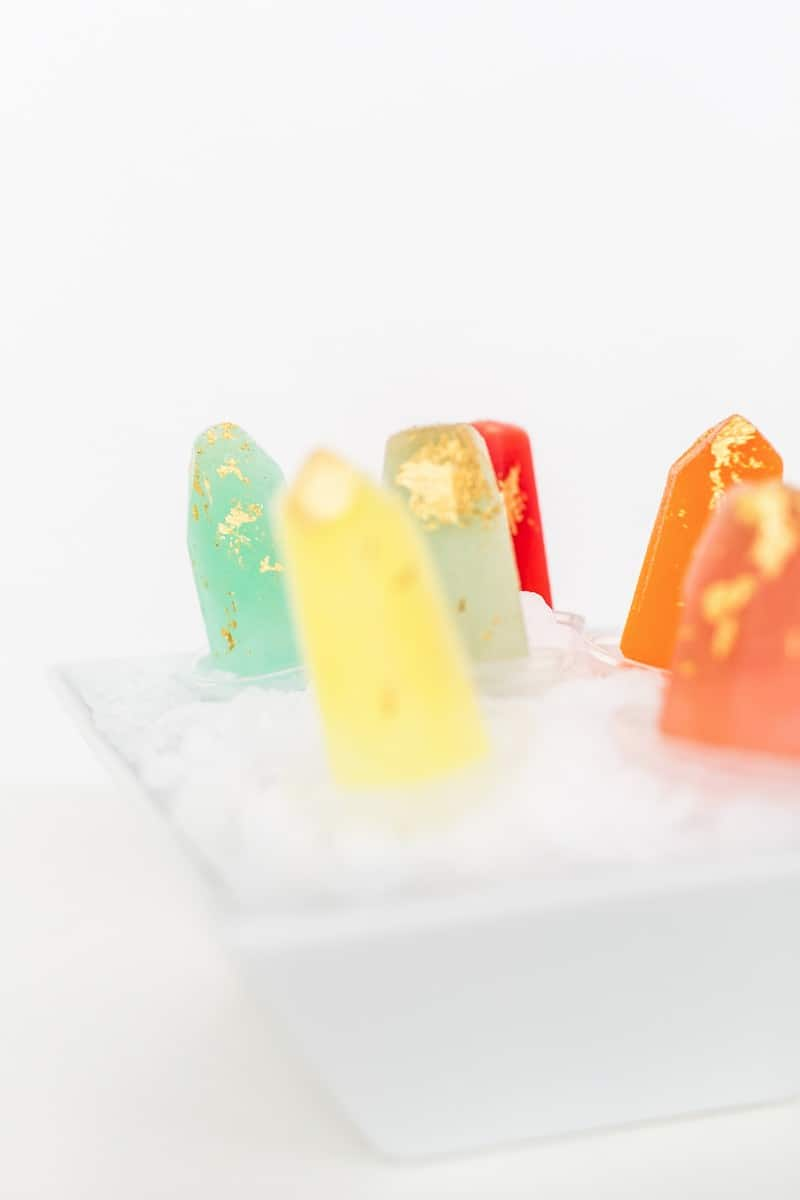 gilded gemstone popsicles | sugarandcloth.com