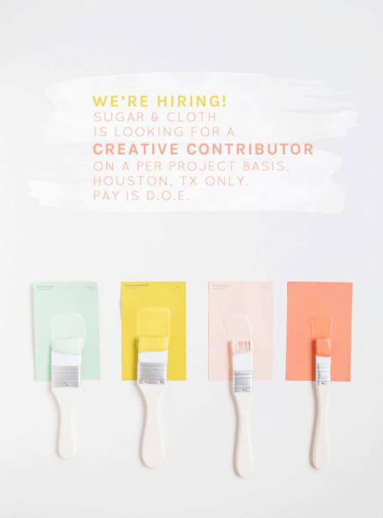 we're hiring a creative contributor- Houston blogger- Ashley Rose