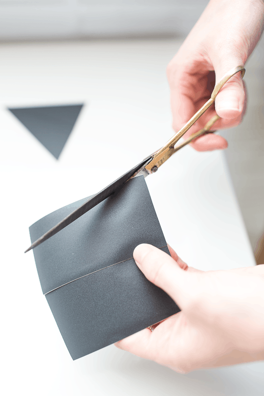 DIY geometric chalkboard notes desktop