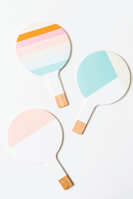 DIY colorblock trivets | sugarandcloth.com