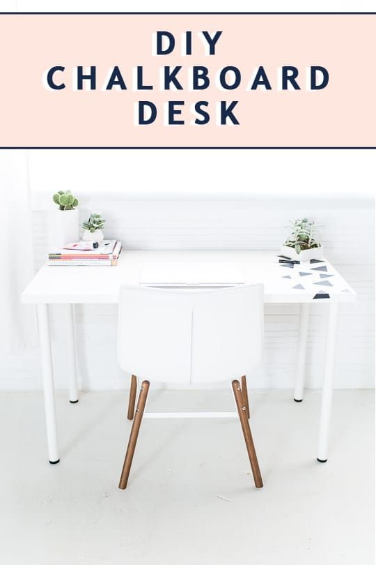 photo of the diy chalkboard desk by top Houston lifestyle blogger Ashley Rose of Sugar & Clot