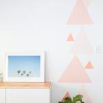 DIY Geometric Accent Wall