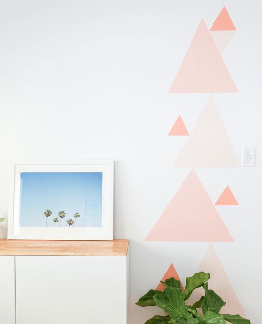 DIY Geometric Accent Wall & DIY Geometric Accent Wall | Sugar u0026 Cloth
