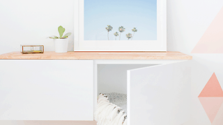 DIY Ikea Hack Floating Credenza