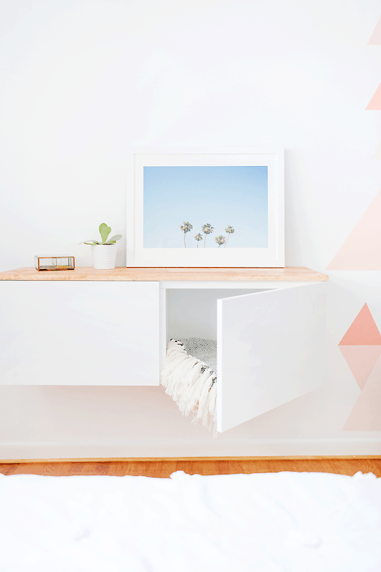 Amazing DIY Ikea Hack Floating Credenza | Sugarandcloth.com