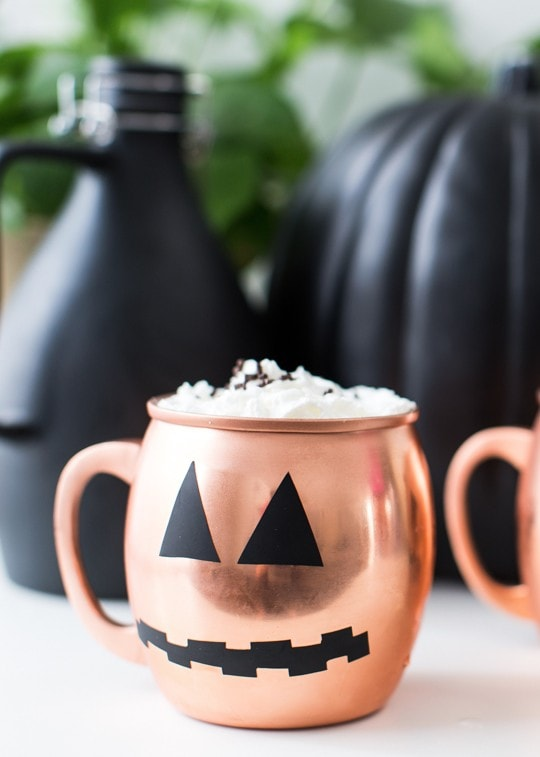 DIY Halloween glassware decals