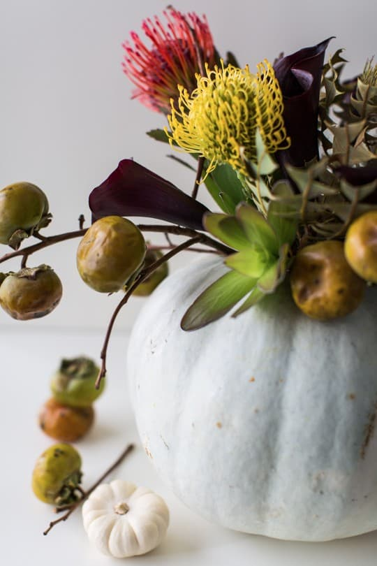 DIY halloween floral centerpiece