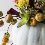 DIY halloween floral centerpiece by top Houston lifestyle blogger Ashley Rose of Sugar & Cloth