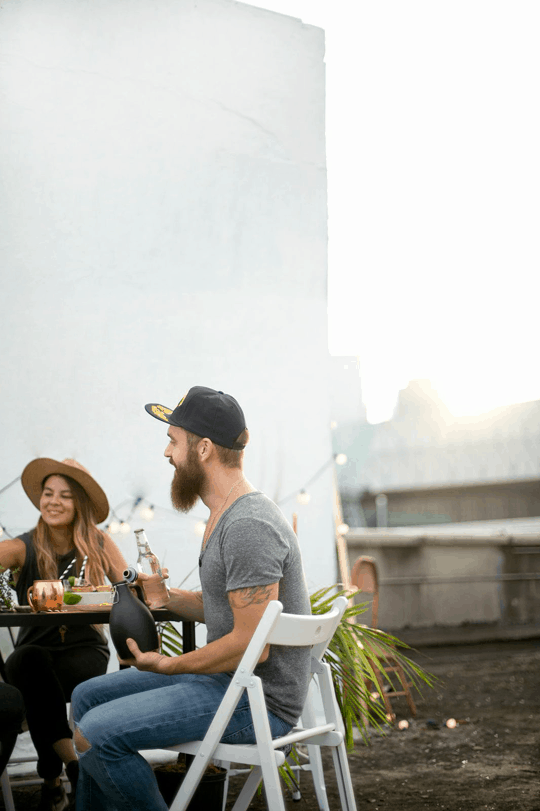 a DIY rooftop football watch party | sugarandcloth.com