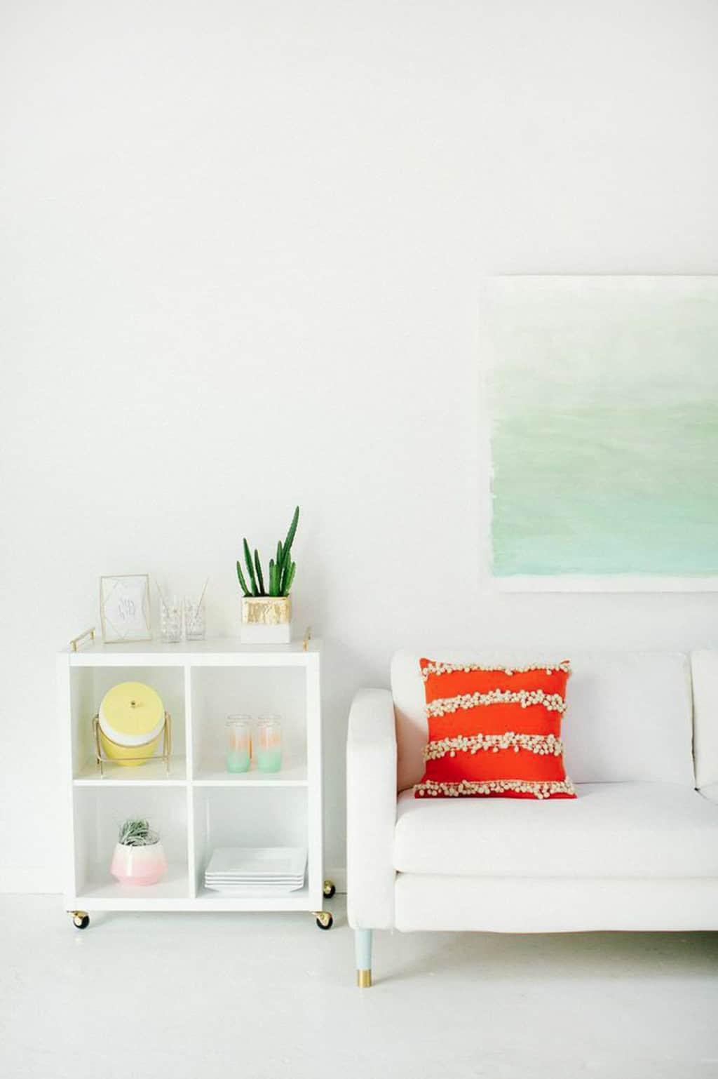 DIY watercolor wall art | sugarandcloth.com