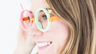 DIY Fruit Loop Costume Glasses