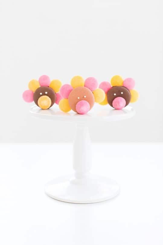 DIY thanksigiving turkey macarons