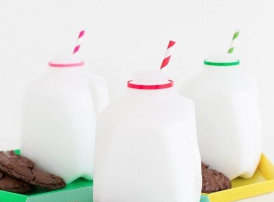 DIY milk and cookie party favors | sugarandcloth.com