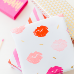 DIY lip patterned gift wrap | sugar and cloth