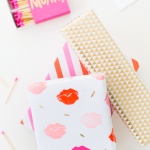 DIY Lip Patterned Gift Wrap