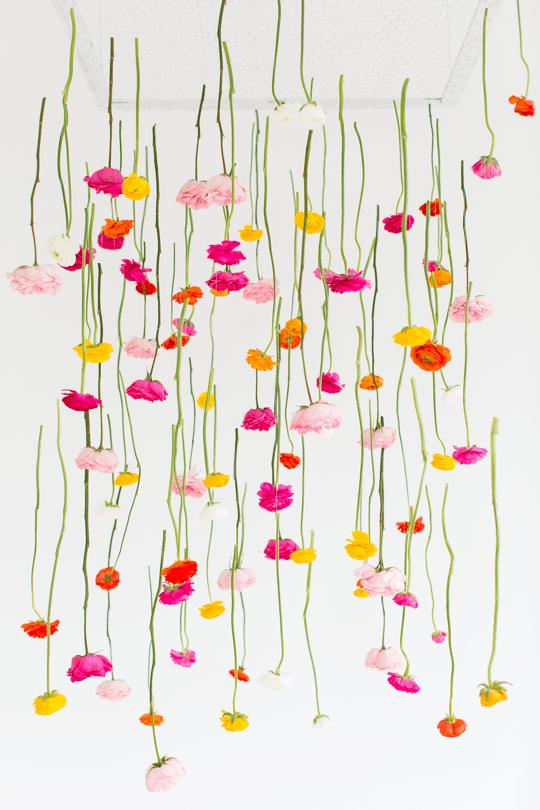 DIY Hanging Flower Installation | Sugar & Cloth