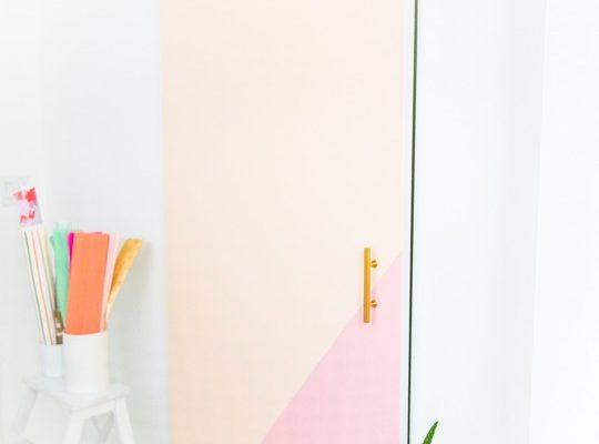 DIY colorblocked barn door | sugarandcloth.com