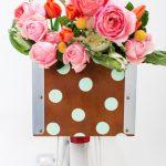 DIY Polka Dot Bicycle Basket