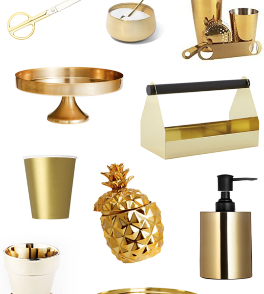 10 gold must-have decor items under $40 | sugarandcloth.com