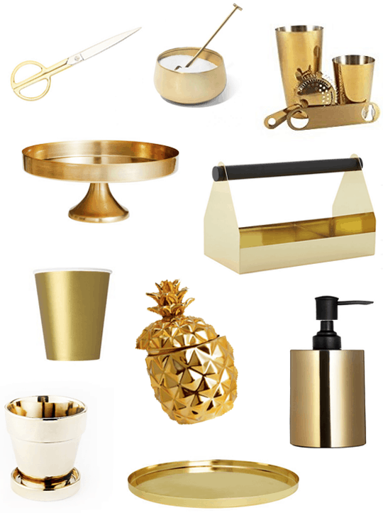 10 gold must have decor items under 40 sugar cloth Home decor gold