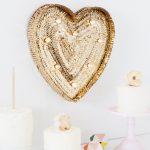 DIY Sequin Marquee Heart