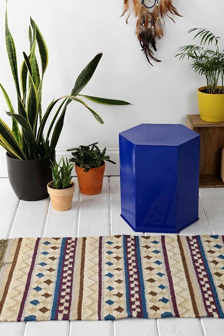 hexagon stool from urban outfitters