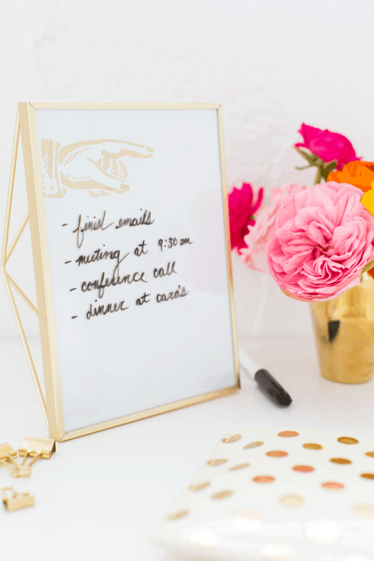 Diy Desktop Dry Erase Board Sugar Cloth