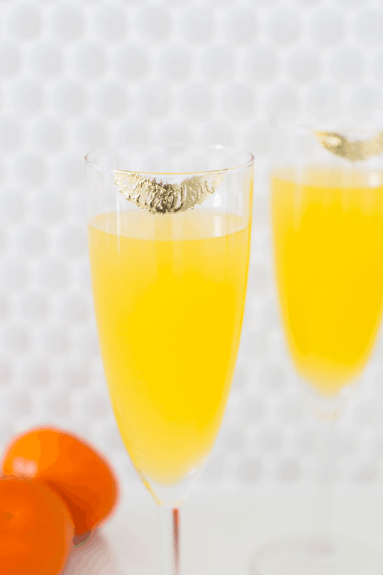 DIY Temporary Edible Gold Lipstick Glasses | Sugar & Cloth