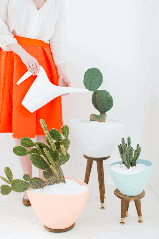 Diy Mid Century Planters Sugar Cloth Diy Projects