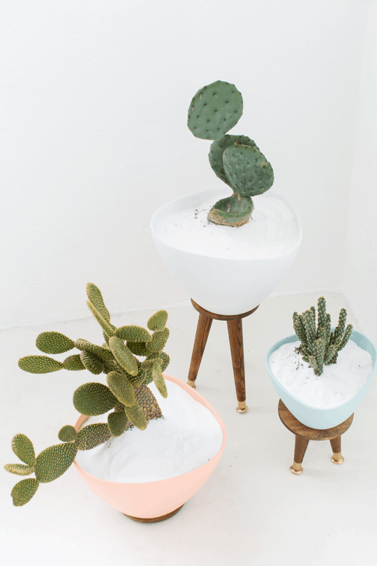 Step 7 -DIY Mid Century Planters by Top Houston Lifestyle Blogger Ashley Rose of Sugar & Cloth - #midcentury #planter #plantlady #cactus #simple #easy #budgetfriendly #diy #diydecor #plantmom #pastel #ikea #modern #moderndiy