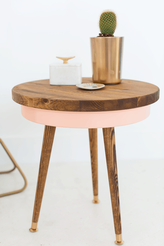 diy mid century end table sugar u0026 cloth