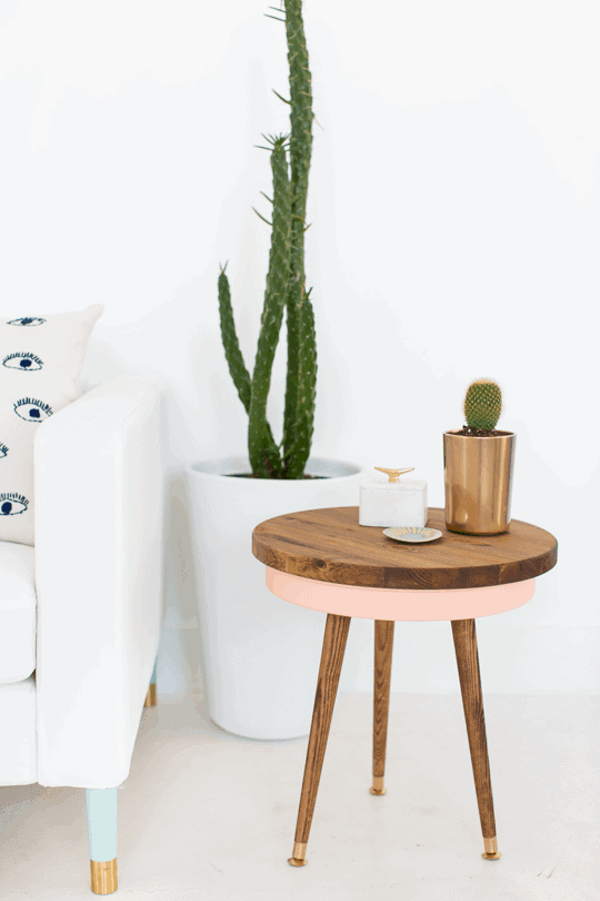 Nice DIY Mid Century Side Table