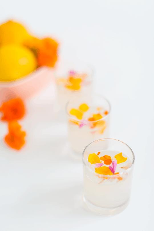Edible Flower Lemon Jello Recipe