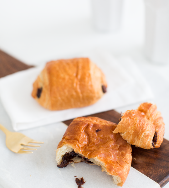 two ingredient chocolate croissant recipe | sugar & cloth