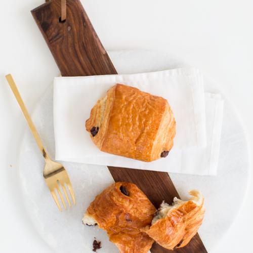 two ingredient chocolate croissant recipe | sugar & cloth