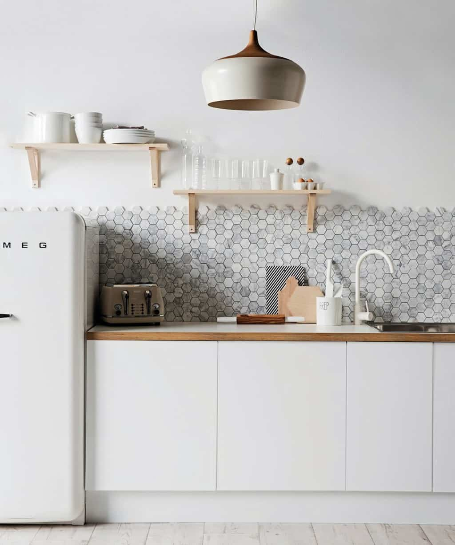 hexagon kitchen tile