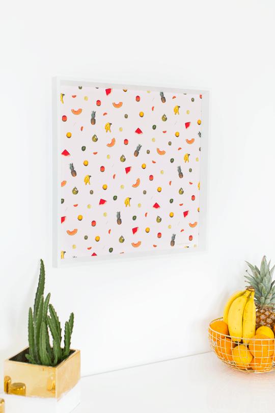 Diy printable fruit wall art sugar cloth