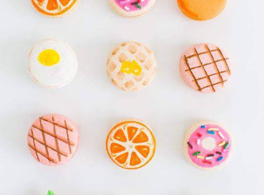 DIY brunch macarons | sugar & cloth